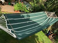 Amazonas green white stripe hammock never used & fittings BNIB