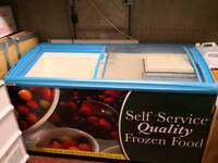 Commercial or home Freezer large with glass display ideal for shop or ice cream