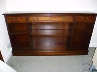 Reproduction Mahogany bookcase nice condition-60 ins x 12.5 ins x 33 ins-can drop off