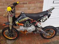 140cc stomp pit bike/ pitbike mint!! Dirt bike/ scrambler/ supermoto/ motocross/ demon x/ thumpstar