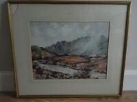 """North Glen Sannox- Arran"" Watercolour by J.Wilson McKinnell. 25pounds ONO"