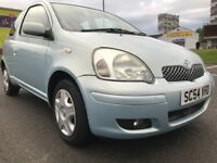 ★ F S H, VERY LONG MOT★ 2005 Toyota Yaris Blue Hatch 1.0, 2 Owners ,eg clio fiesta corsa polo golf