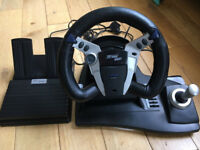 Logic 3 TopDrive Plus Gaming Steering Wheel for PS1, PS2 + N64