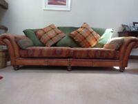 Sofa and matching footstool. Tetrad Eastwood, Premium make.