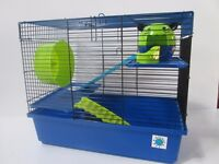 Large Blue Hamster Cage 2 Storey With ladders rrp 26.99