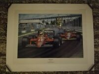 1985 Ferrari F1 Canadian GP, Alboreto/Johansson Print + Alboreto Postcard for sale  Winnersh, Berkshire