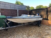 Boat for sale, Concorde cavalier, 14ft with mariner 30 hp 2 stroke outboard