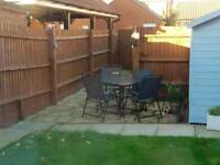 Garden Table and 4 Chairs with Parasol