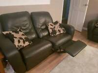 2 2 seater reclining sofas for sale