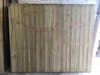 Straight Top Heavy Duty Pressure Treated Wooden Fence Panels
