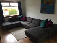 Large corner sofa in excellent condition (from Made)