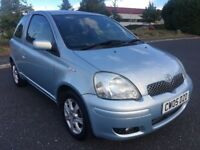 2005 TOYOTA YARIS 1.0 VVT-i BLUE, PETROL, MANUAL, 3 DOORS HATCHBACK, LONG MOT, GOOD AND CHEAP RUNNER
