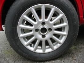 """14"""" ALLOY WHEELS WITH 185.60.14 TYRES."""