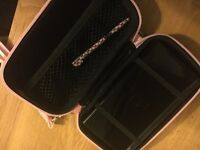 Nintendo DS with broken screen, case and stylus