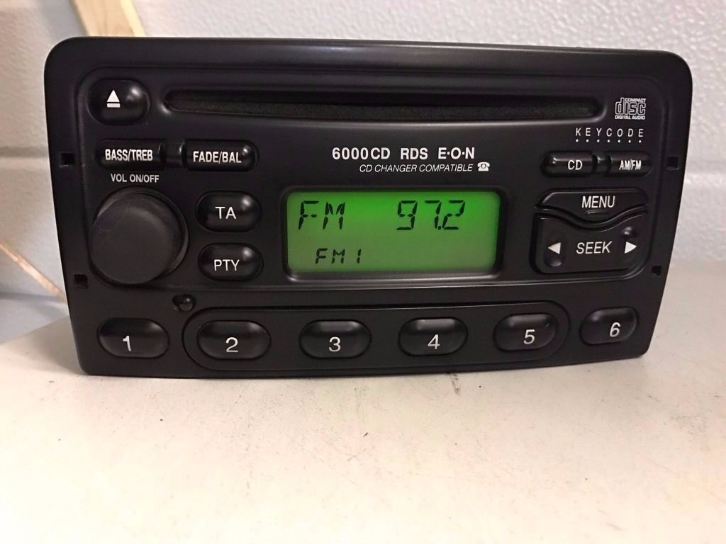 ford 6000 cd player radio rds code focus mondeo fiesta. Black Bedroom Furniture Sets. Home Design Ideas