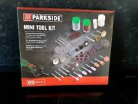 BRAND NEW Parkside Mini Tool Kit - 99 Pieces - for Dremel Type and similar hand Tools