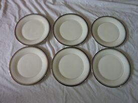 Set of 6 Sarabande Royal Doulton Fine Bone China Plates