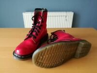 2 Pairs Original Dr Martin's Airwalk Pink Shinny boots and White Shinny boots sz 4