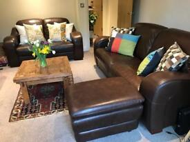 Two seater sofa + footer