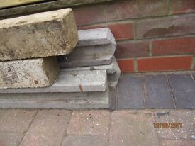New slotted concrete fence posts