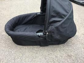 Baby jogger bassinet with adapters