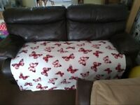 Large 3 seater electric recliner sofa