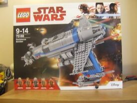 LEGO STAR WARS 75188 RESISTANCE BOMBER WITH MINI FIGURES BRAND NEW