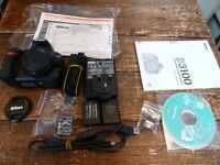 Nikon D-SLR D3100 CAMERA..(BODY ONLY) SHUTTER COUNT ONLY 408