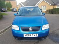 Volkswagen Touran S 1.6 MPV 5dr Petrol Manual (7 Seats) Blue 2004 **WARRANTED MILEAGE with history.