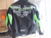 BIKER JACKET AS NEW FULLY ARMOURED PLUSE FULLY ARMOURED GLOVES £40 THE LOT !!