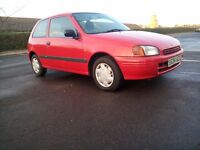 Toyota Starlet 1.3 Petrol Automatic Very Low Genuine Mileage Superb Drives Only 1 Former Keeper