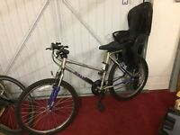 Raleigh Activator Energiser Mountain Bike - Child Seat Attached
