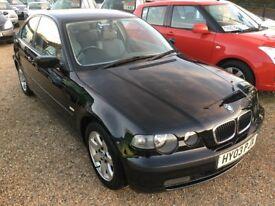2003 BMW 316TI 316 TI SE COMPACT BLACK 3DR