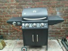 Grill Chef 3 Burner Gas BBQ with Side Burner