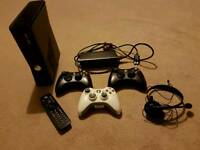 Xbox 360 Slim 250gb with 12 Games & Accessories