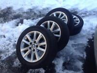 BMW alloys 4 x with tyres