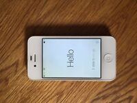 Unlocked Apple iPhone 4s, 8gb, White, Very Good Condition plus Spare Rear and Front Screen