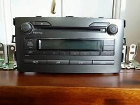 Toyota Auris 2006-2012 Radio CD Stereo Genuine Part