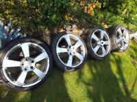 MERCEDES ALLOY WHEELS,,18 INCH,,112 PCD,,VW & AUDI,,COLLECT FROM EN9,,