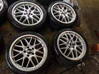 "17"" GENUINE BBS ALLOY WHEELS FOR VAUXHALL ASTRA VECTRA ZAFIRA SET OF 4"