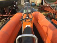 RIB for sale Humber 5.5 metre with 100 hp Mariner outboard and road trailer