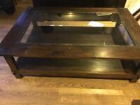 Lombok dark wood coffee table