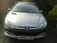 Peugeot 206 sw 2.0 diesel good all round condition has small crack in windscreen MOT til Aug 17