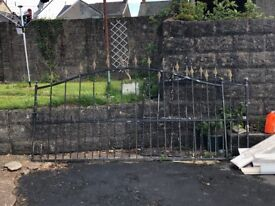 Victorian style gate and drive gate. Antique
