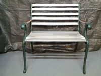 Garden bench with aluminium slats so no corrosion