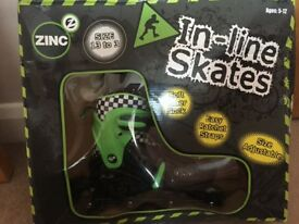Boys In Line Skates - to fit size 13 to 3