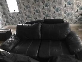 2+3 seater black sofa