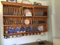Old pine plate rack 152cm x 100cm