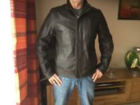 JOHN ROCHA BROWN MEDIUM MANS LEATHER JACKET