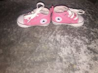 2 pairs of baby girl converse size 2.